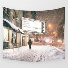 New York City Snow Wall Tapestry