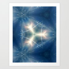 Signature of the blue sky of one day Art Print