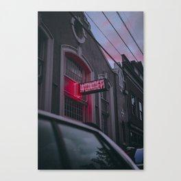 Wonder Neon Canvas Print