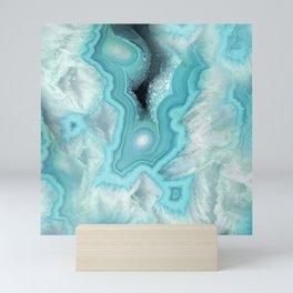 Aqua Sea Stone Mini Art Print