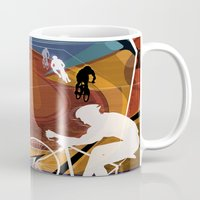 cycling Mugs featuring Cycling by Robin Curtiss