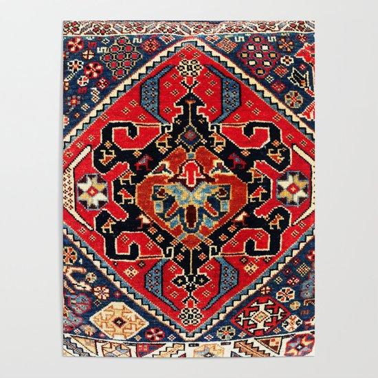 Qashqa'i Antique Fars Persian Bag Face Print by vickybragomitchell