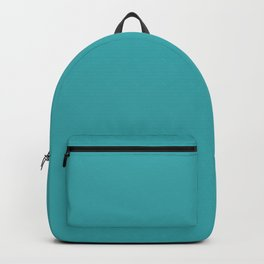 Aqua / Teal / Turquoise Solid Color Pairs with Sherwin Williams 2020 Trending Color Aquarium SW6767 Backpack