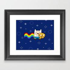 Nyan Time: Adventure Time plus Nyan Cat Framed Art Print