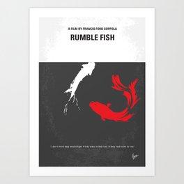 No073 My Rumble fish MMP Art Print