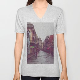 Early Morning on Bourbon Street x New Orleans Photography Unisex V-Neck