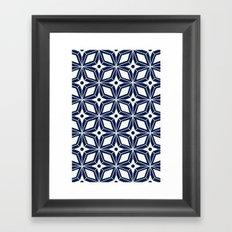 Starburst - Navy Framed Art Print