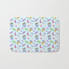 Cute candy and ice-cream pattern Bath Mat