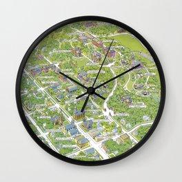 DENISON University map GRANVILLE OHIO Wall Clock