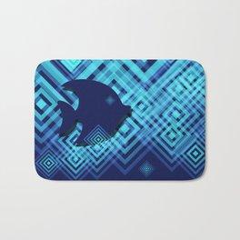 Blue Fish Angel Anglers Angles Bath Mat