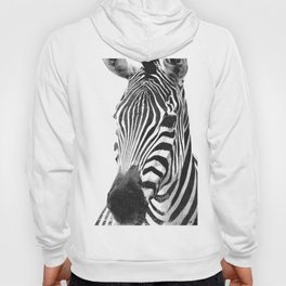 Black and white zebra illustration Hoody