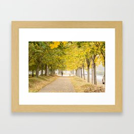 Walking under the trees in Autumn I Framed Art Print