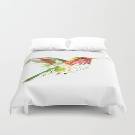 Hummingbird flying bird decor Duvet Cover
