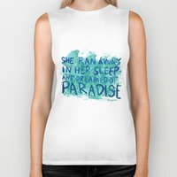 "coldplay Biker Tanks featuring ""She Dreamed of Paradise""-Coldplay by Fabfari"