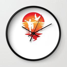 Karate Judo Judoka Taekwondo Ju-Jutsu Kung-Fu sunset Karate Wall Clock