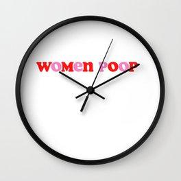 women poop Wall Clock