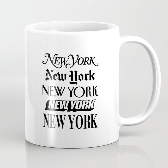 I Heart New York City Black and White New York Poster I Love NYC Design black-white home wall decor Coffee Mug