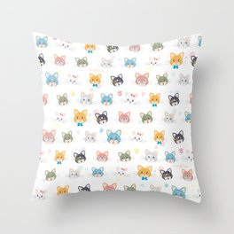 Cat passion Throw Pillow