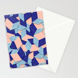 Colorful Aqua Geometric Pattern Stationery Cards