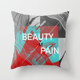 Comic Book Beauty Throw Pillow
