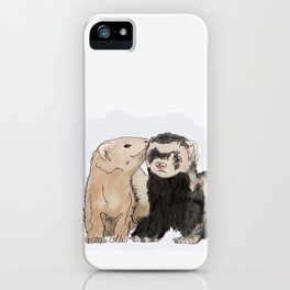 Ferret Kisses iPhone Case