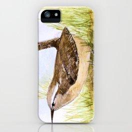 Wren Woodland Bird Nature Art iPhone Case