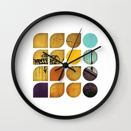 Cold Comfort Collage — Drippy Tag Wall Clock