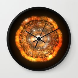 The Eye of Cyma: Fire and Ice - Frame 7 Wall Clock