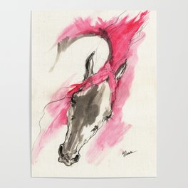 Pink horse Poster
