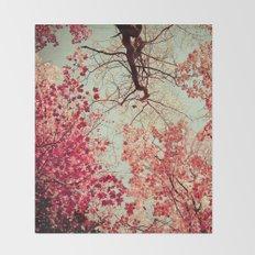 Autumn Inkblot Throw Blanket