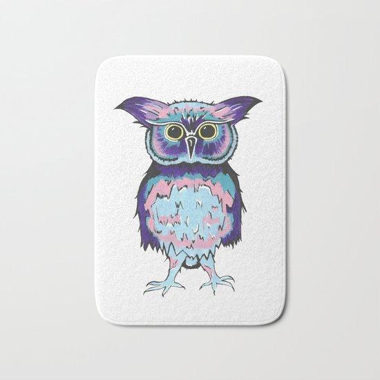 Small Scrappy Owl Bath Mat