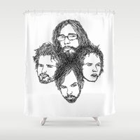 leon Shower Curtains featuring Kings of Leon by Simone Rohler Art