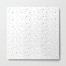 Croissant girl pattern Metal Print
