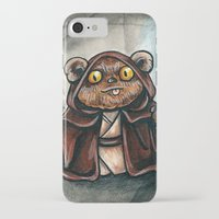 jedi iPhone & iPod Cases featuring Ewok Jedi by Megan Mars