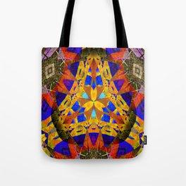 Stellar Vintage Geometric Meditation Mixed Media Mandala Tote Bag
