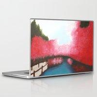 sakura Laptop & iPad Skins featuring Sakura by Bleriot