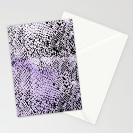 Snake Skin Watercolor Purple Stationery Cards