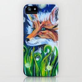 """""""Fancy Fox"""" Fox Art iPhone Case"""