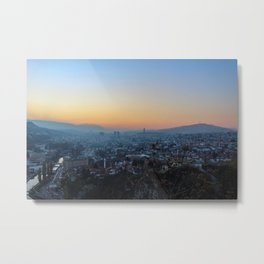 City of Sarajevo in the fall before winter Metal Print
