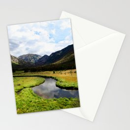 Watercolor Landscape, East Inlet Trail 03, Colorado Stationery Cards