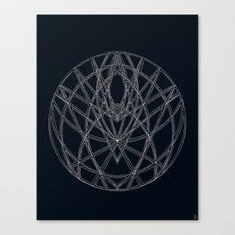 Arachne's Mandala Canvas Print