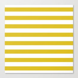 Yellow and white stripes Canvas Print