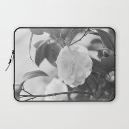 Once in a While - Black and White Flower Laptop Sleeve