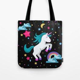 Unicorn in the night Tote Bag