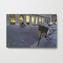 Bicycles in Verona Metal Print