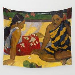 """Paul Gauguin """"Femmes sur la plage (Women on the beach)"""" 1892 Wall Tapestry"""