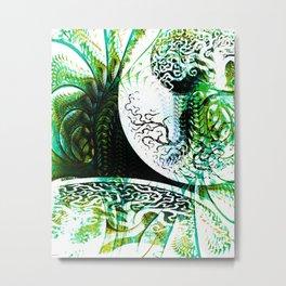 Opposition Green Inversion Metal Print