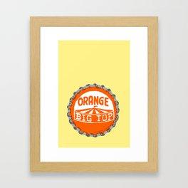 Orange big top bottle cap lefty Framed Art Print