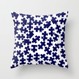 Random Jigsaw Pieces Throw Pillow