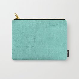 Turquoise Painted Cement Concrete Wall Texture Carry-All Pouch